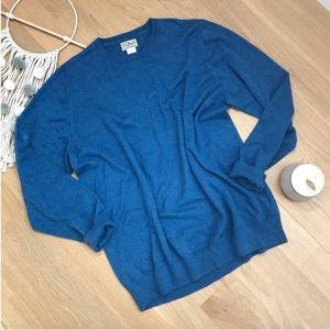 L.L. Bean   Cashmere Blend Crewneck Sweater XL